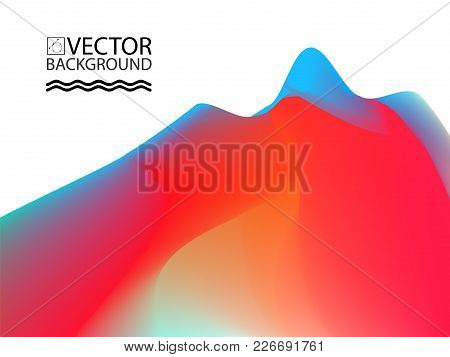 Marble Landscape Trendy Illustration Backgrounds, Placard With Abstract Liquid Wave Shapes, Geometri