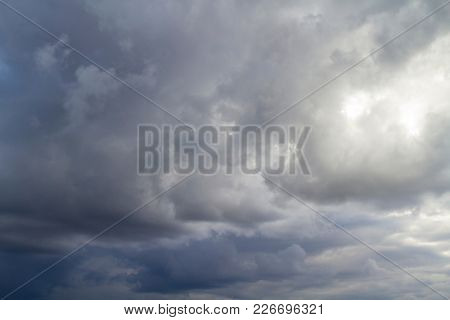 Evening, Summer sky with blue colors and very pure white clouds