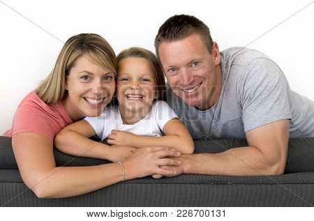 Young Beautiful And Happy Caucasian Couple With Mother And Father Posing Cheerful Together With Ador