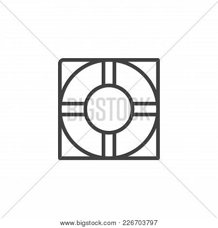 Life Buoy Outline Icon. Linear Style Sign For Mobile Concept And Web Design. Lifesaver Simple Line V