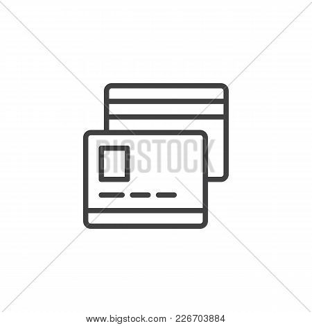 Credit Card Outline Icon. Linear Style Sign For Mobile Concept And Web Design. Payment Method Simple