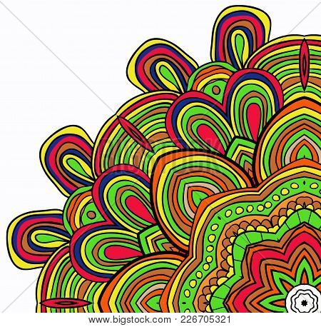 Vector  Colored Pattern. Can Be Used As Greeting Card. Cinco De Mayo. Ethnic Background