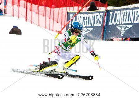 Bernadette Schild beim FIS World Cup Slalom in Kranjska Gora am 7.1.2018