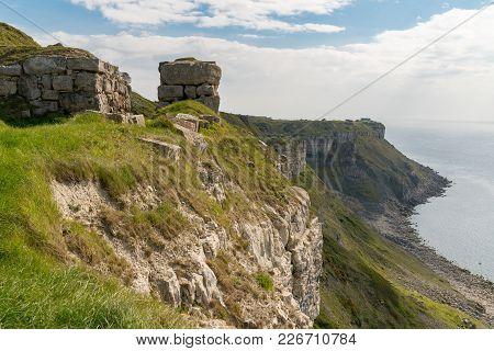 South West Coast Path At Hallelujah Bay, Isle Of Portland, Jurassic Coast, Dorset, Uk