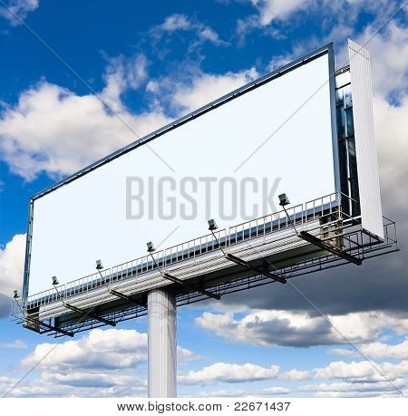 Billboard Copyspace Clouds Everywhere