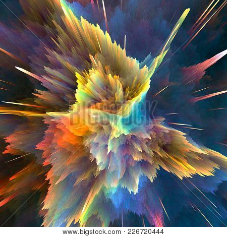 Abstract Colorful Explosion Background. Closeup, Hi-res Illustration For Your Brochure, Flyer, Banne
