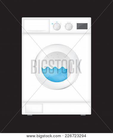 Modern Washing Machine With Dryer, Vector Design, Eps10