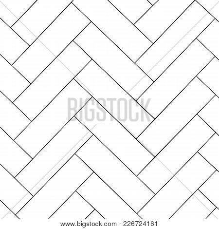 Simple outline parquet pattern. Zigzag geometric background. Vector illustration