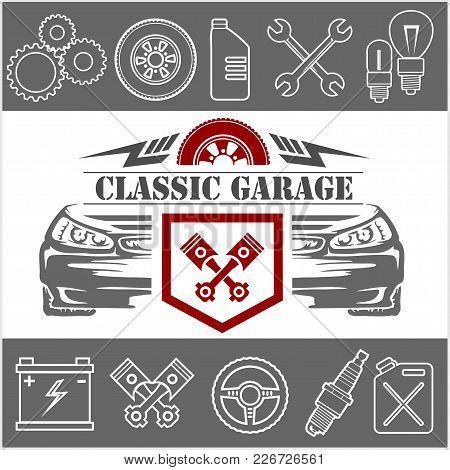 Auto Repair Icons And Service Logo, Badge.