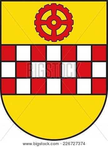 Coat Of Arms Of Kamen Is A Town In North Rhine-westphalia, Germany, In The District Unna. Vector Ill