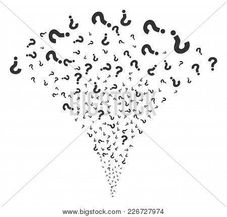 Question Fireworks Fountain. Vector Illustration Style Is Flat Iconic Symbols. Object Fountain Made
