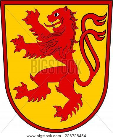 Coat Of Arms Of Luenen Is A Town In North Rhine-westphalia, Germany. Vector Illustration