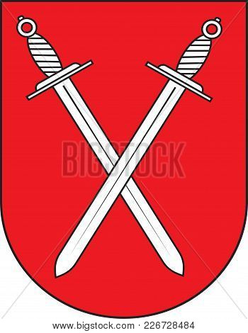 Coat Of Arms Of Schwerte Is A Town In The District Of Unna, In North Rhine-westphalia, Germany. Vect