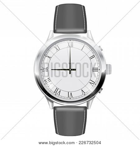 Men S Watch. Vector Illustration Isolated On White Background