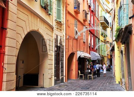 Monte Carlo, Monaco - June 17: View Of The Street In City Centre Of Monte Carlo, Monaco On June 17,