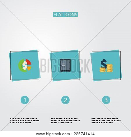 Set Of Registration Icons Flat Style Symbols With Expenses, Asset, Deposit And Other Icons For Your