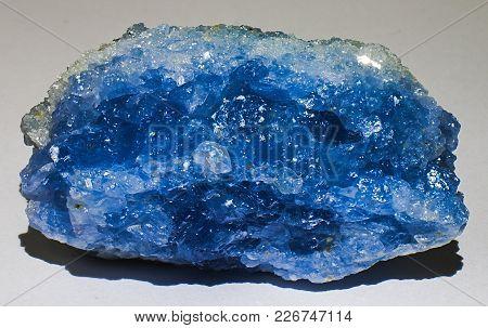 Celestite Mineral Stone, Blue Crystal, Shiny Gem