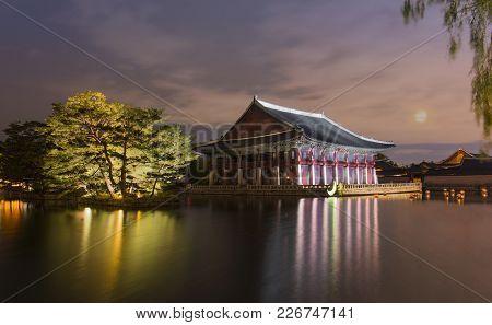Gyeongbokgung Palace At Night In Seoul,south Korea.