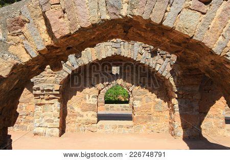Ruins of  Golkonda fort in Hyderabad, India