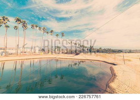 Santa Barbara Shoreline In Vintage Tone, California