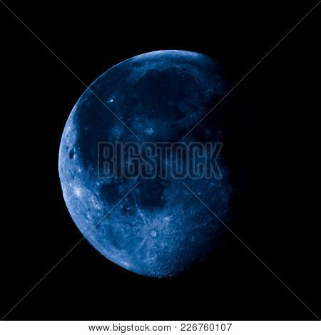 High Contrast Waning Gibbous Moon
