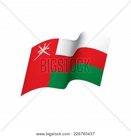 Oman Flag, Vector Illustration On A White Background