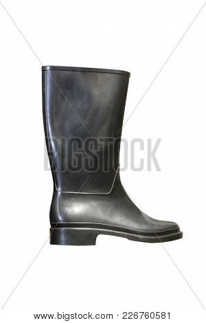 Work Rubber Boot On A White Background To Mean An Industrial Concept