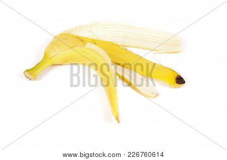 Banana Peel Isolated On The White Background