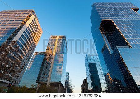 Office Buildings At Financial District Known As Nueva Las Condes In Rosario Norte Street, Las Condes