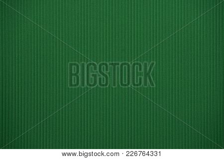 Dark Green Colored Colored Corrugated Cardboard Texture Useful As A Background