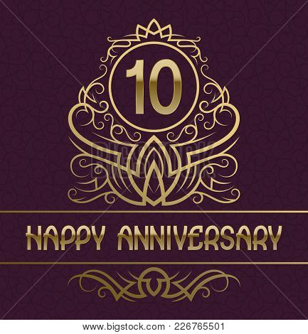 Ten Anniversary Images Illustrations Vectors Free Bigstock