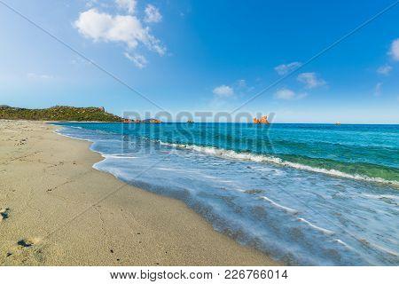 Cea Beach Under A Blue Sky, Sardinia