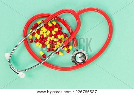 Antibiotics And Stethoscope