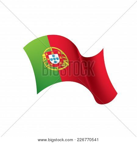Portugal Flag, Vector Illustration On A White Background