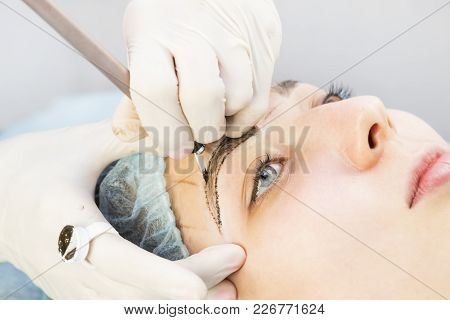 Microblading Eyebrows Workflow In A Beauty Salon .
