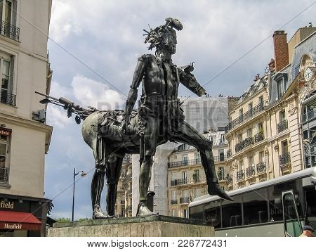 Paris, France - May 29, 2006: Art Nouveau Sculpture The Centaur Created By French Artist Cesar Balda