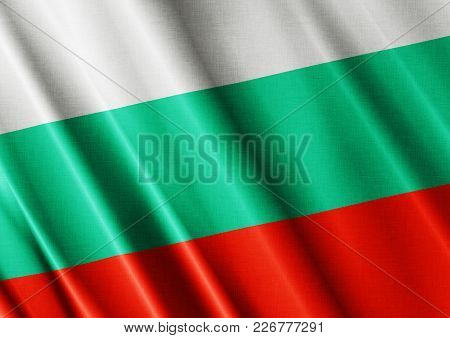 Bulgaria Textured Proud Country Waving Flag Close