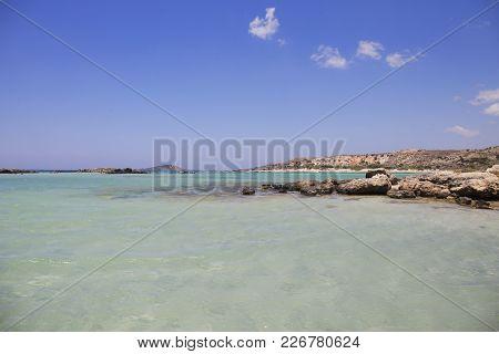 Elafonisi Beach,with Turquoise Water Crete Island, Greece