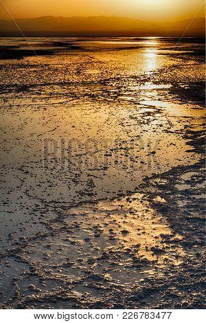 The Sunset Reflex  In The  Salt   Lake