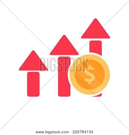 Increase Profit Chart Icon. Compound Interest Added Value, Financial Investments Stock Market. Futur