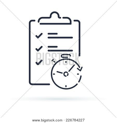 Fast Service Simple Solution, Project Management And Improvement Checklist Survey Clipboard. Enrollm