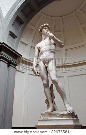 Florence, Italy - September 17, 2017: Statue Of David By Michelangelo; Statue Of David By Michelange
