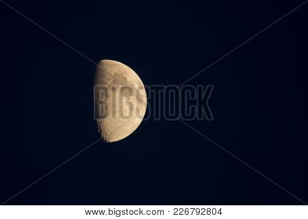 Photo Of A Waxing Moon In A Clear Night Sky