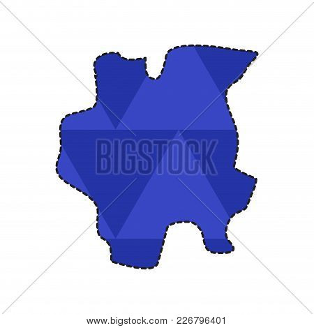 Dotted Line Map Of Suriname. Vector Illustration Design