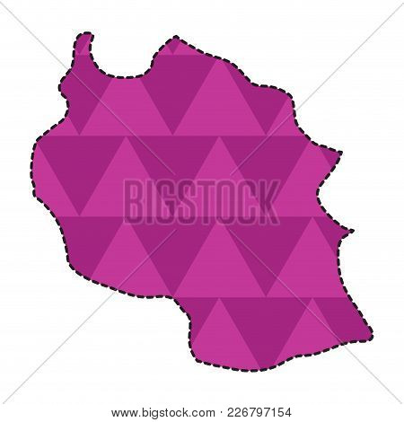 Dotted Line Map Of Tanzania. Vector Illustration Design