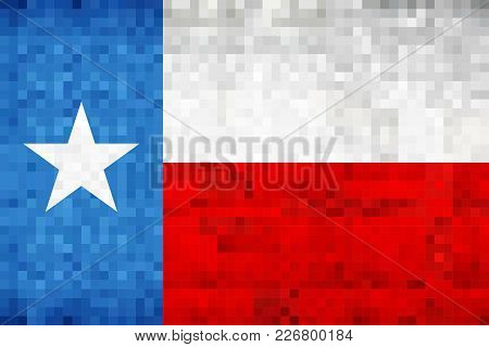 Abstract Grunge Mosaic Flag Of Texas - Illustration,  The Flag Of The State Of Texas