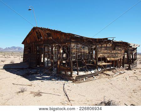 The Ghostly Remains Of An Old Homestead Near Harquahala Arizona.