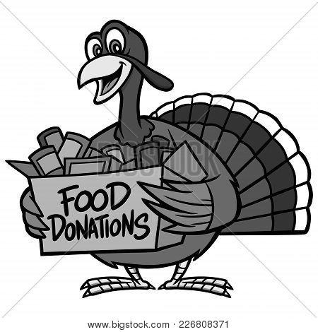 Food Donation Illustration - A Vector Cartoon Illustration Of A Food Donation Concept.