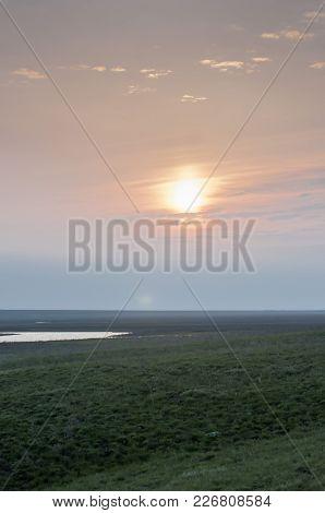 Sunrise Over The Steppe