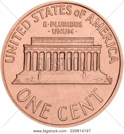 One Coin Cent White Money Object Circle
